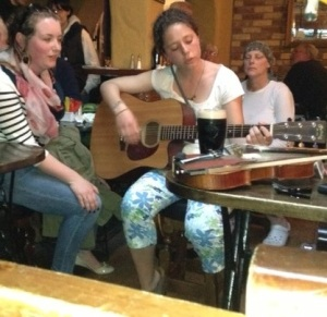 2 girls at O'Connor's pub playing their own songs