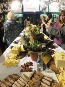 This was the spread in the reception area -- before the cheese tasting, before the whiskey tasting, and before our four-course dinner. Is it any wonder I gained weight? Note the Kerrygold cheese, of which I ate my own bodyweight.